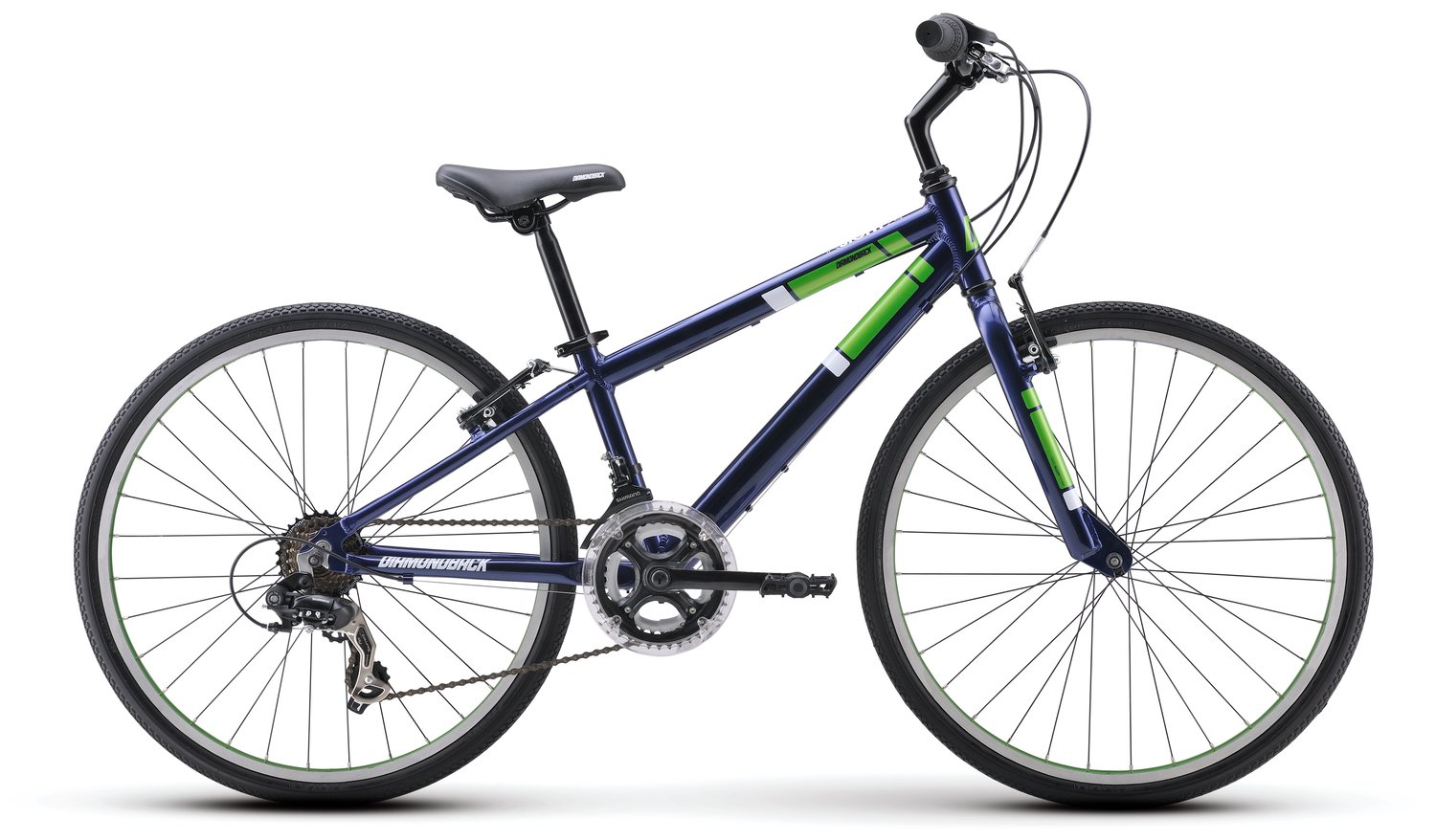Diamondback Bicycles Insight 24 Kid's Hybrid Bike, 24'' Wheels, Blue by Diamondback Bicycles