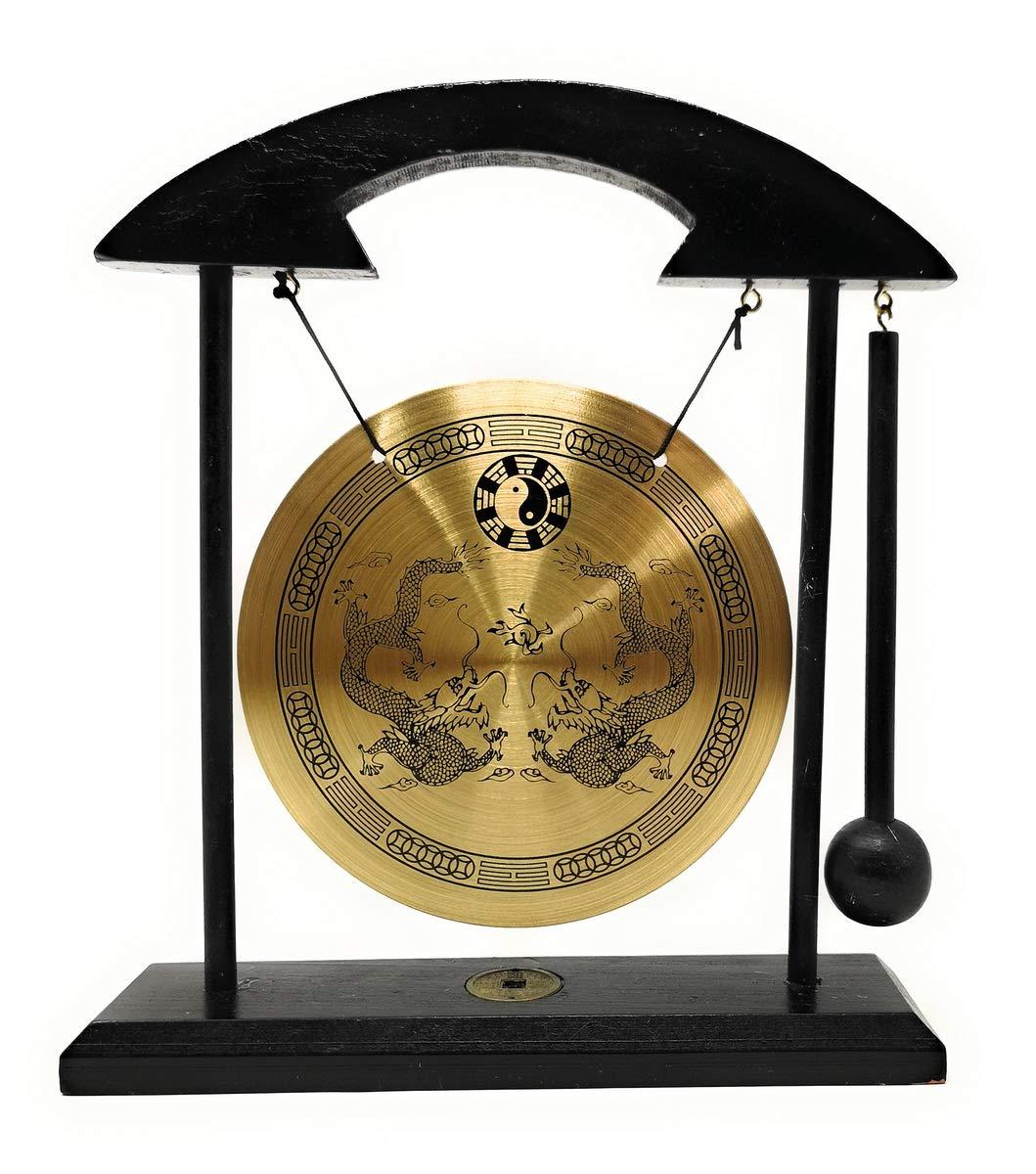 Zen Art Brass Feng Shui Desktop Gong by Asian Home