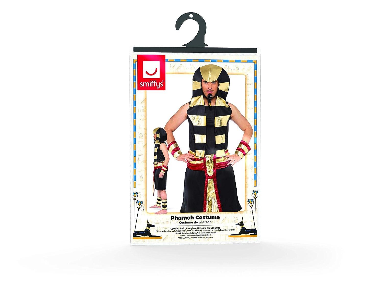 Smiffys Mens Pharaoh Costume Tunic Headpiece Belt Arm and Leg Cuffs