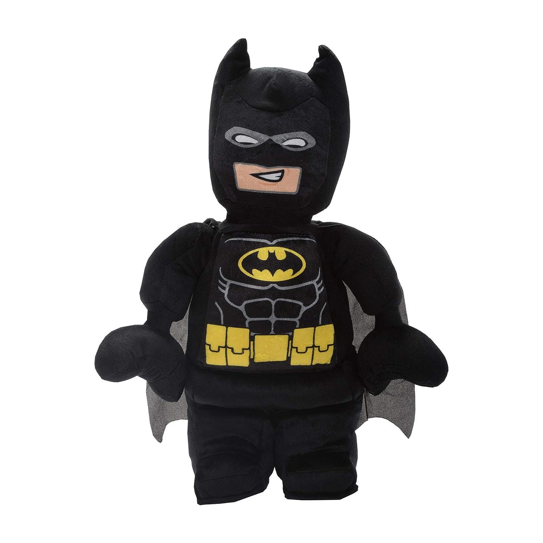 "Black 19/"" x 10/"" x 3/"" LEGO Batman Character Shaped Soft Plush Cuddle Pillow"