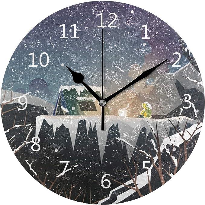 Zseeda Reloj de Pared Silencioso Funciona con Pilas Sin ...