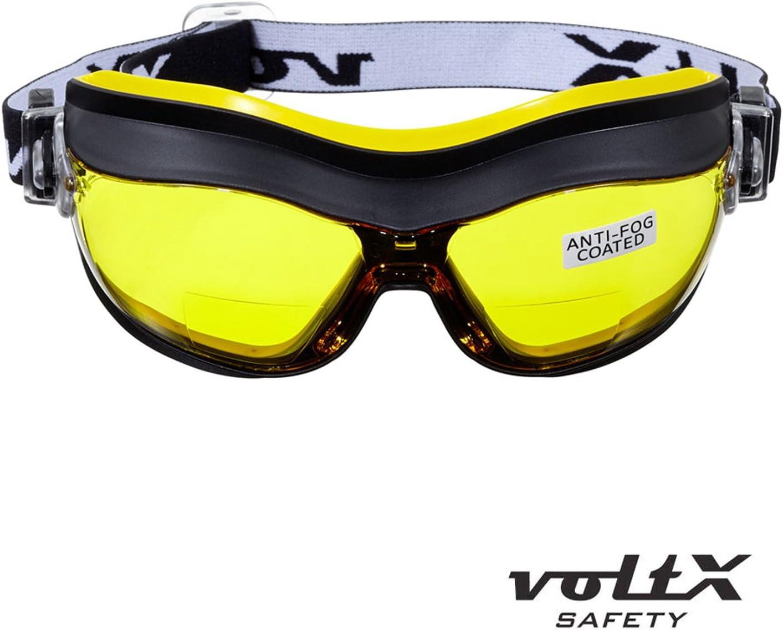 voltX /'Defender/' Lunettes Masques de Protection avec Etui Transparentes /– sans dioptrie Certifi/ées CE EN166FT Rev/êtement anticondensation Safety Goggles