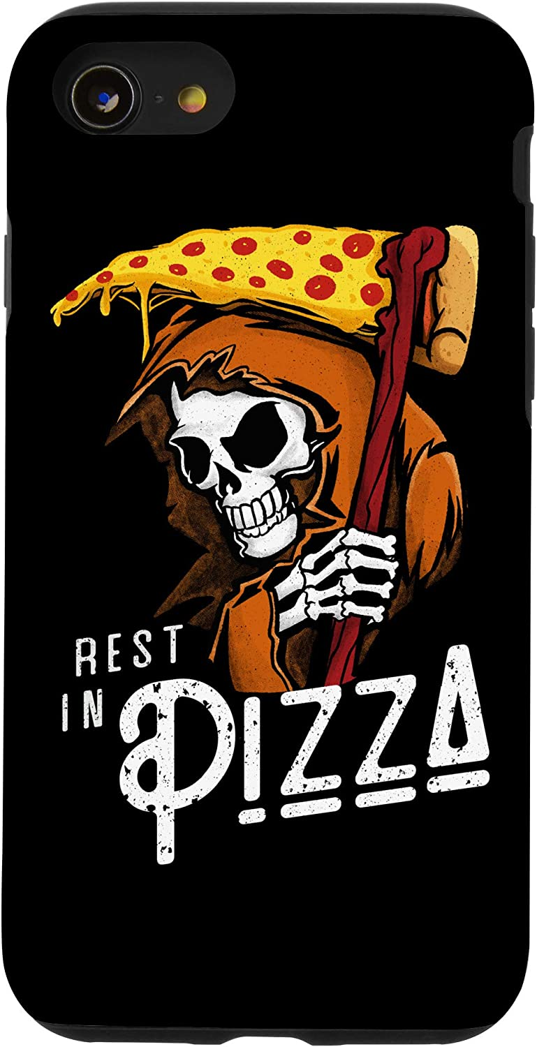 iPhone SE (2020) / 7 / 8 Rest In Pizza - Funny Grim Reaper With Fast Food Scythe Case