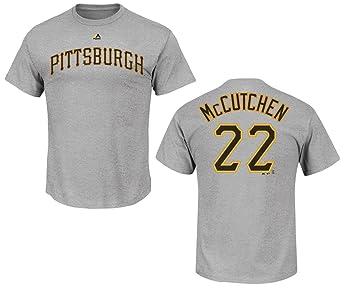 MLB Béisbol Camiseta de Pittsburgh Pirates Andrew McCutchen gris # 22 en medio (M): Amazon.es: Deportes y aire libre