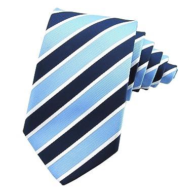 PenSee para hombre corbata JACQUARD tejido de seda corbata de ...