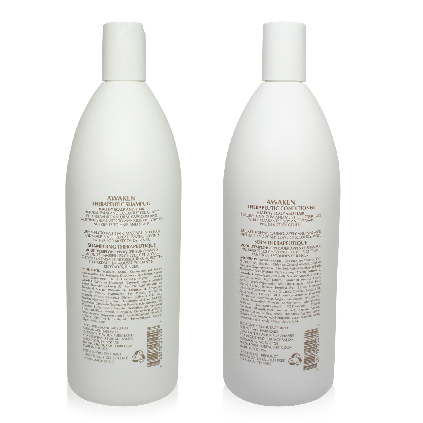 Surface Awaken Therapeutic Shampoo & Conditioner Duo - 1 Liter Bottles by SURFACE (Image #2)