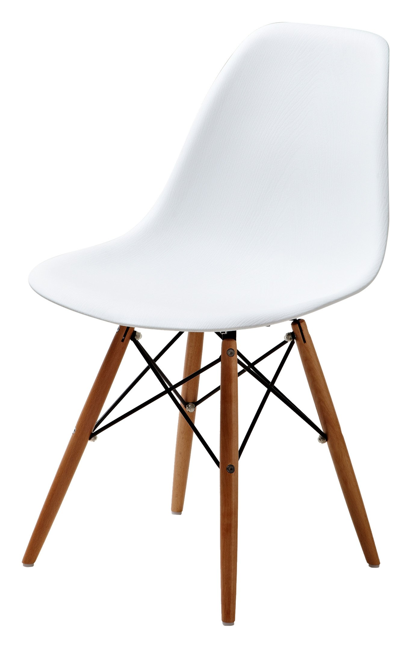 Gold Sparrow Lucas Wood Grain Accent Chairs, Set of 2, White