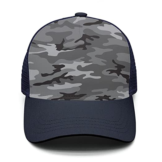 28d82bb013e Marinas Unisex Black Camouflage Military Truck Driver Hat Cap Style Hat  Adjustable Mesh Breathable caps