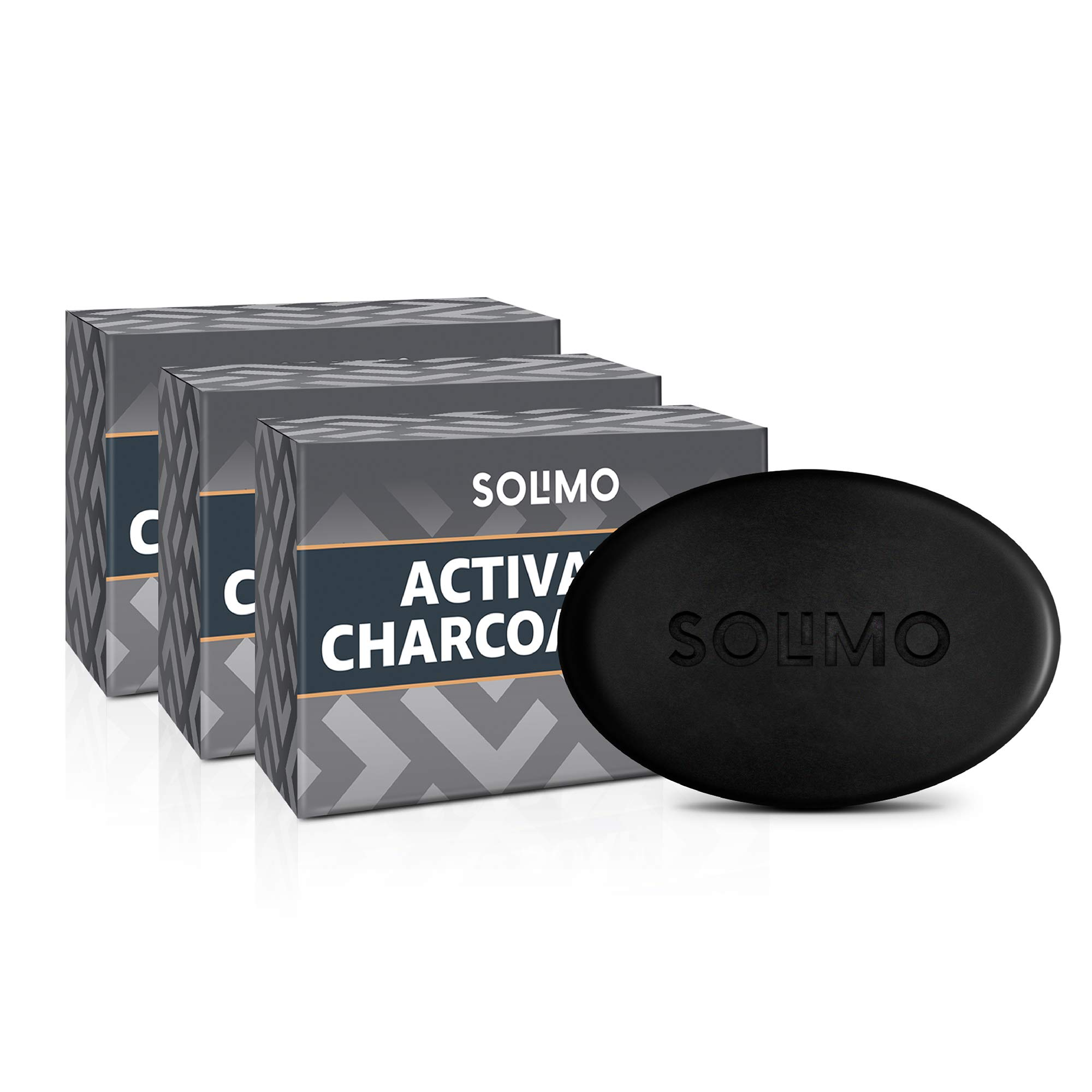 Amazon Brand - Solimo Activated Charcoal Soap (Pack of 3, 375g) (B07W9955XS) Amazon Price History, Amazon Price Tracker