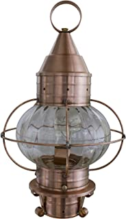 product image for Brass Traditions 620-OPT-AC Medium Onion Post Lantern Optic Globe, Antique Copper Finish Optic Globe Onion Post Lantern