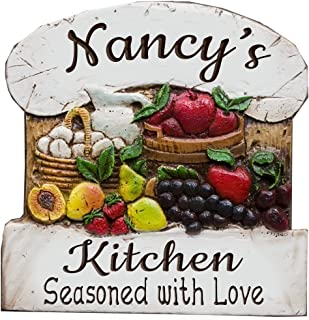 product image for Piazza Pisano Personalized Kitchen Wall Art Decor Plaque