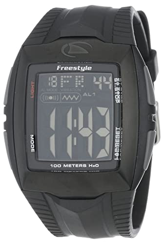 Freestyle Shark BUZZ - Reloj digital de caballero de cuarzo con correa de goma negra (
