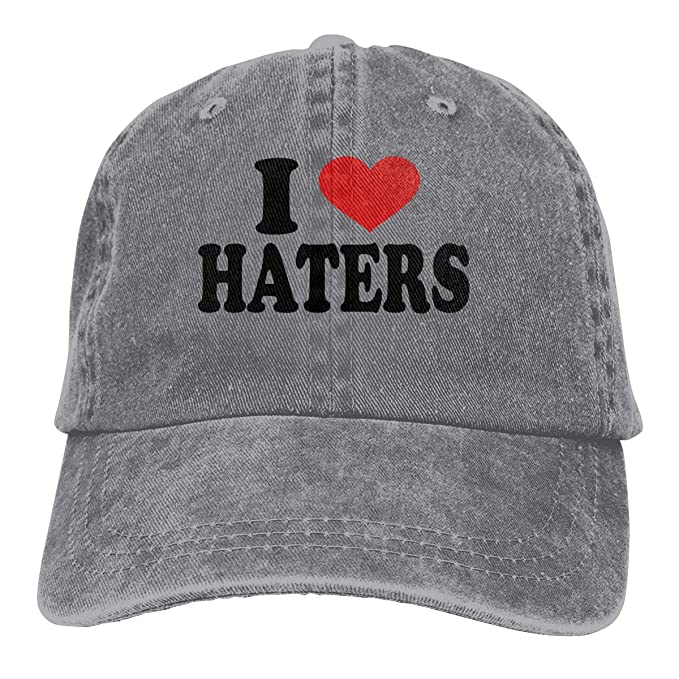 Amazoncom I Love Haters Cowboy Caps Unisex Adjustable Dad Baseball