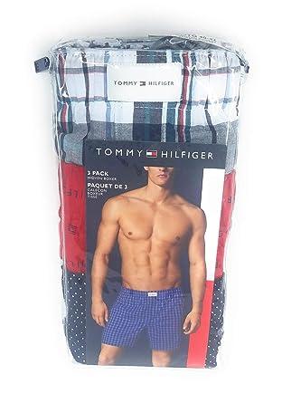 73a6950c3018 Tommy Hilfiger Men's Cotton Classics 3 Pack Woven Boxer at Amazon Men's  Clothing store: