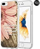 Iphone 7 Plus Case Christian Quotes, Hungo Apple Iphone 7 Plus Case Soft Tpu Silicone Protective Bible Verses Theme
