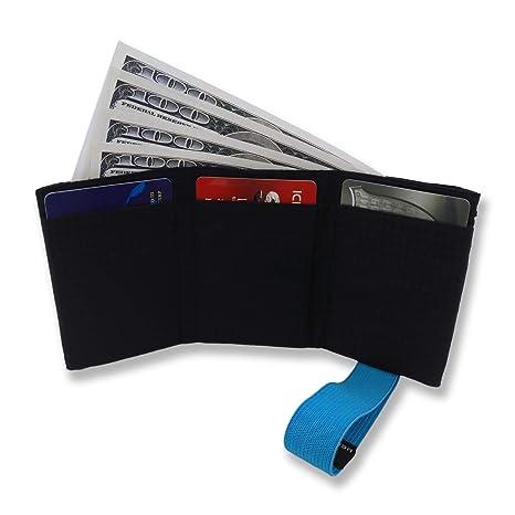Ultra Slim Men s nylon pieghevole portafoglio RFID blocco-Hold fino a 12 carte  di credito 6a7155aaa45
