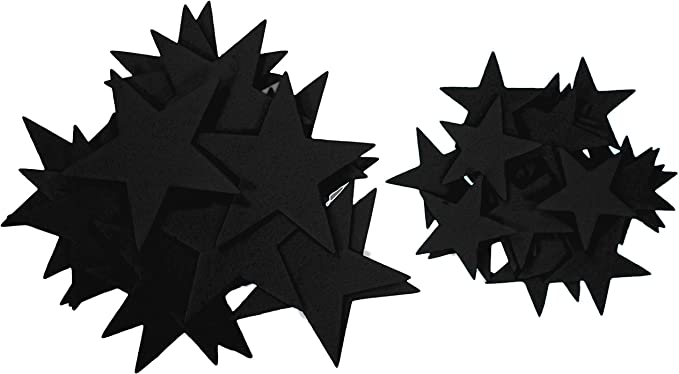 Playfully Ever After 1.5 and 3 inch Combo Size Felt Star Stickers 46pc Blue