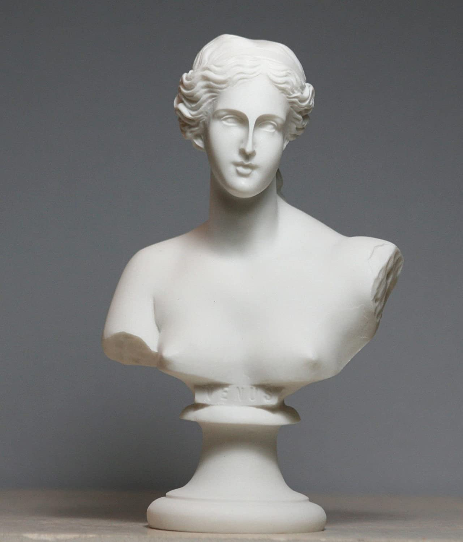 Bust Head Goddess Aphrodite of Milos Venus Alabaster Statue Sculpture 5.9΄΄