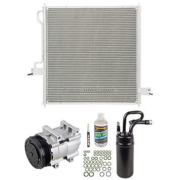 Nueva completa a/c Kit w/ac compresor condensador secador de cartucho para Ford