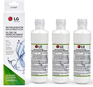LT1000P Refrigerator Water Filter Replacement Leak-Proof, Compatible with LG LT1000P, LT1000PC, LT1000PCS, MDJ64844601, ADQ74793501, ADQ74793502, Kenmore 46-9980, 9980 (Pack of 3)
