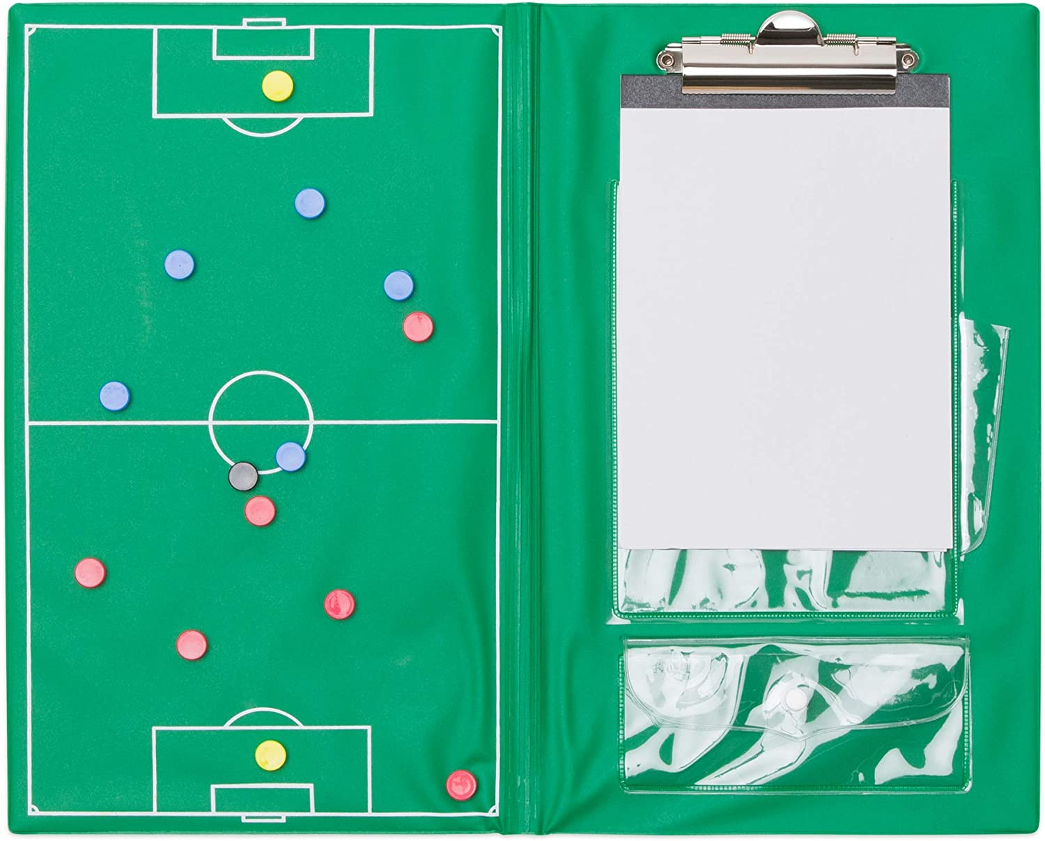 Green Champion Sports Magnetic Soccer Clipboard Set