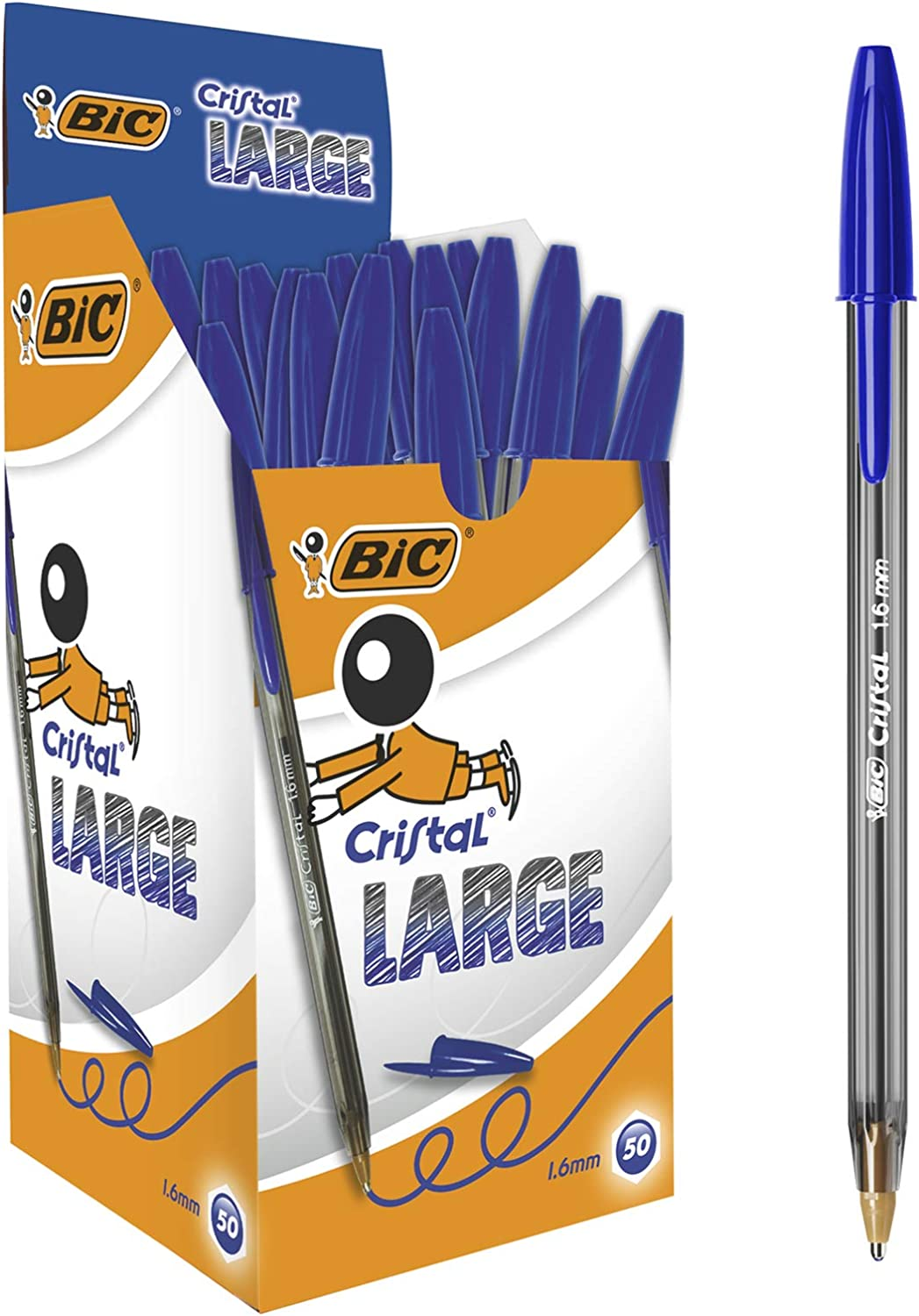 BIC CRISTAL LARGE 1.6MM BLUE 880656 by BIC