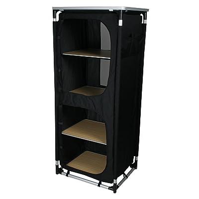 10T camBOX Quattro Armoire de camping 4 casiers Noir