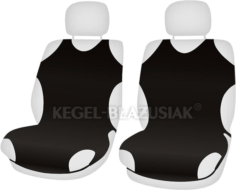 ZentimeX Z707824 Sitzbez/üge Vordersitze T-Shirt-Design Baumwolle schwarz