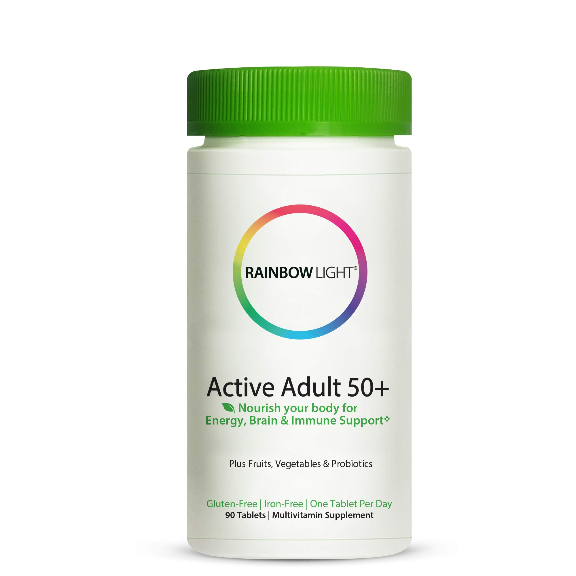 Rainbow Light Active Adult 50+, Once-Daily Multivitamin - 90 Tablets (Packaging May Vary) by Rainbow Light