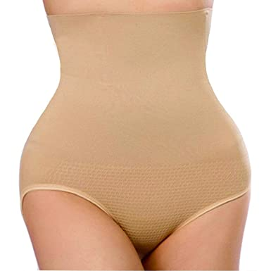 6cdff45e6c3 Image Unavailable. Image not available for. Color  FLORATA Women Waist  Cincher Girdle Tummy Slimmer Sexy High Waist Thong Panty Shapewear