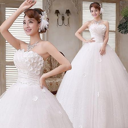 XC Vestido de Novia de Corea del Estilo Cinturón de Corbata ...