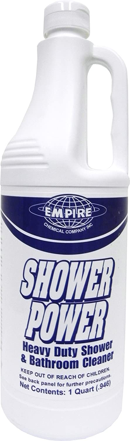 Shower Power - Powerful Bathroom Cleaner From Concentrate - Tub and Shower Cleaner - Cleans Tubs, Toilets, Urinals, Fixtures & More-1 Qt. Empire Cleaning Supply