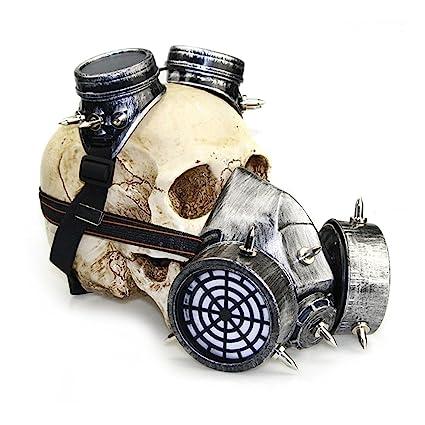 Hungrybubble Biohazard Steampunk Máscara de Gas Gafas Spikes Esqueleto Guerrero Máscara de la Muerte Masquerade Cosplay