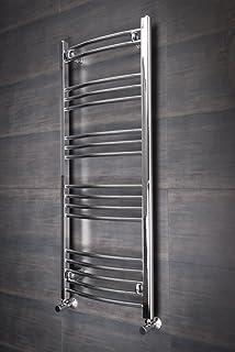 termoarredo da bagno scaldasalviette 120 x 50 elegante piatto scala a pioli cromato