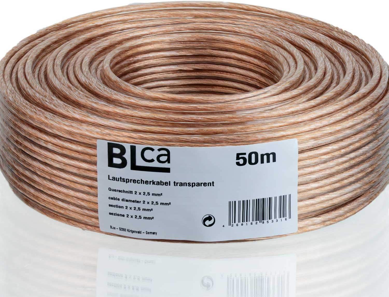 Blca 50m 2x2 5mm Lautsprecherkabel Cca I Boxenkabel Elektronik