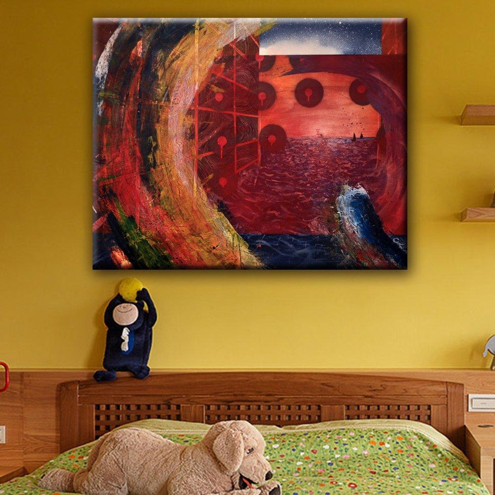 Amazon.com: Spiral Artwork Wall Decor Unframed Ready to Hang ...