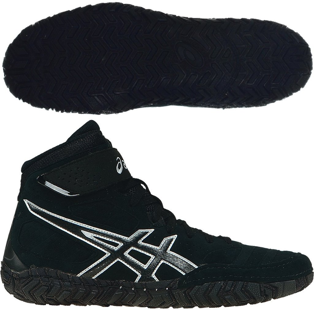 ASICS Aggressor 2 Mens Wrestling Shoes - Black-10