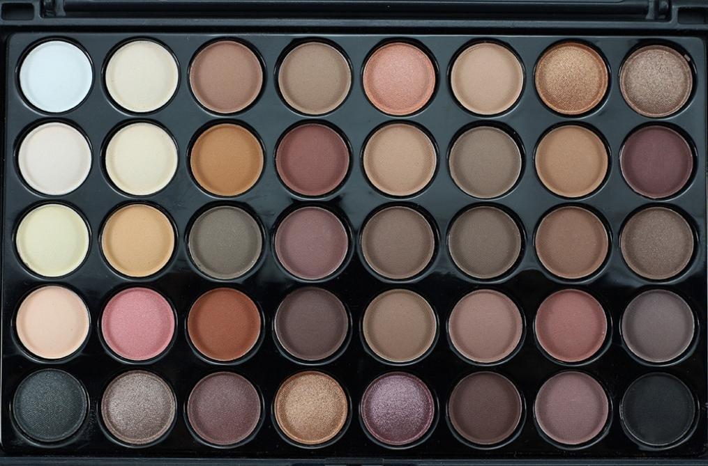 LETTER®40 Farbe + Pinsel Set A Kosmetik Lidschatten Creme Make-up Palette Schimmer Set (B)