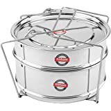 Embassy Cooker Separator Set (2 Containers; Suitable for 4 Ltrs Prestige Outer Lid Cooker)