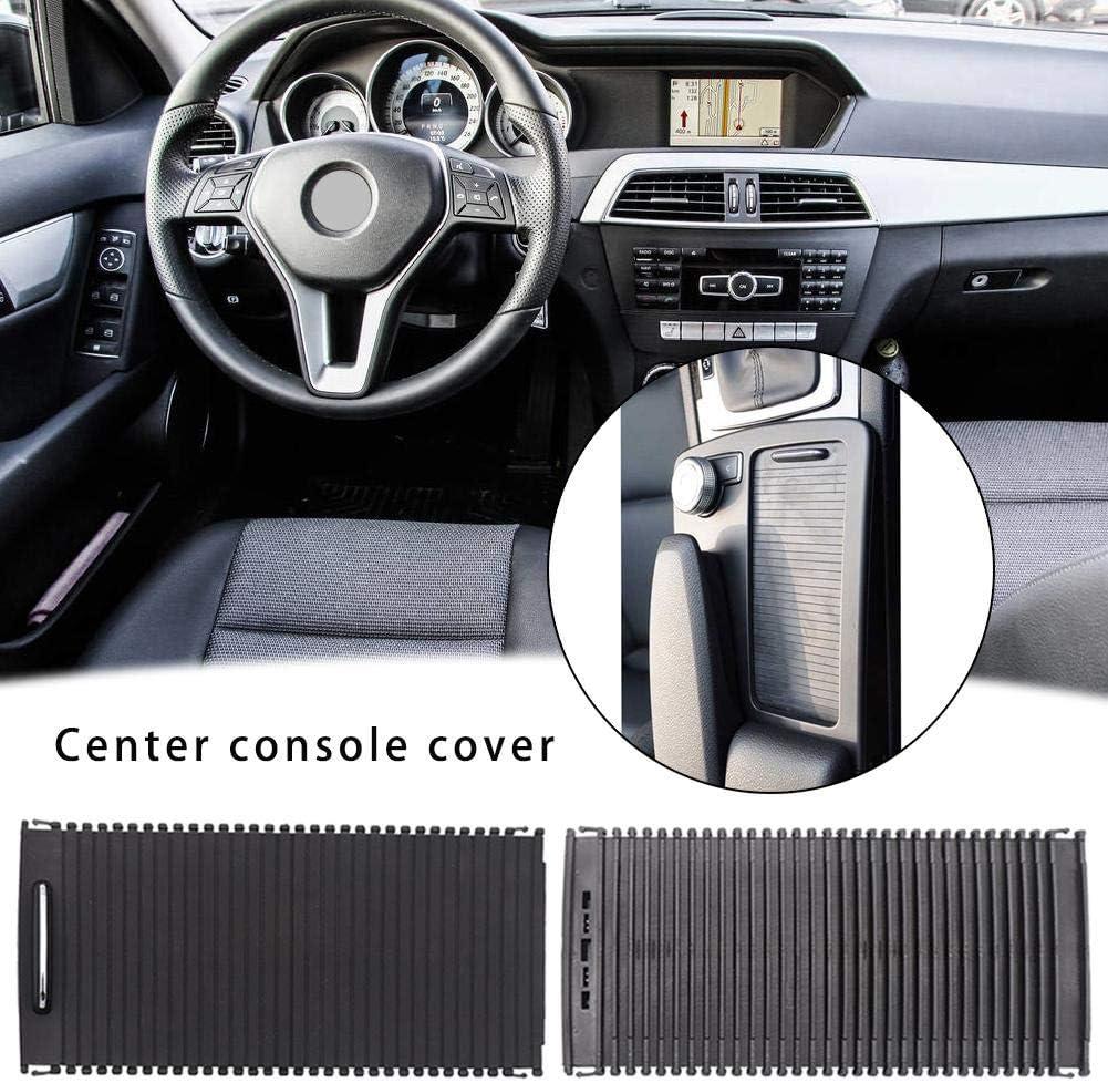 whelsara For Mercedes-Benz W204 W212 Cup Holder Roller Blinds C-class E-class Central Control Zipper Storage Box Trim Center Console Cover Sliding Shutter Door