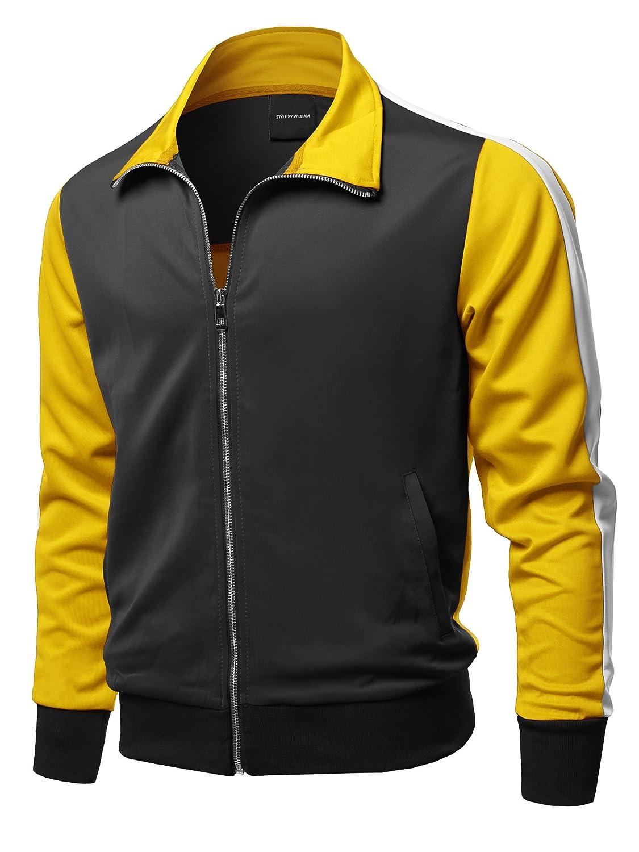 Style by William PANTS メンズ B07DRQDZ52  Fsmcjl0011 Black Yellow Large
