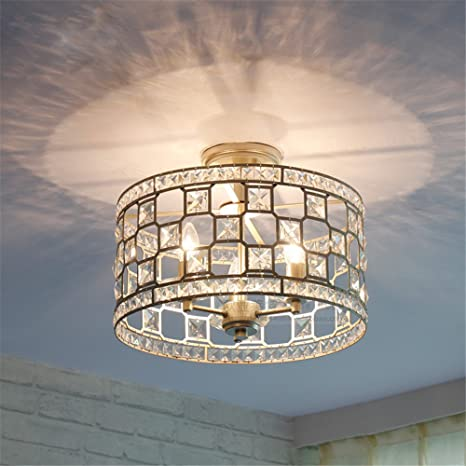 Modern LED Pendant Flush Mount Ceiling Fixtures Light American Ceiling Lamp  Crystal Light Hall Entrance Clearance Lights Creative Light, ...