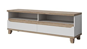 tendencio Meuble TV Style scandinave Lier - 2 tiroirs  Amazon.fr ... e6245600dfbc