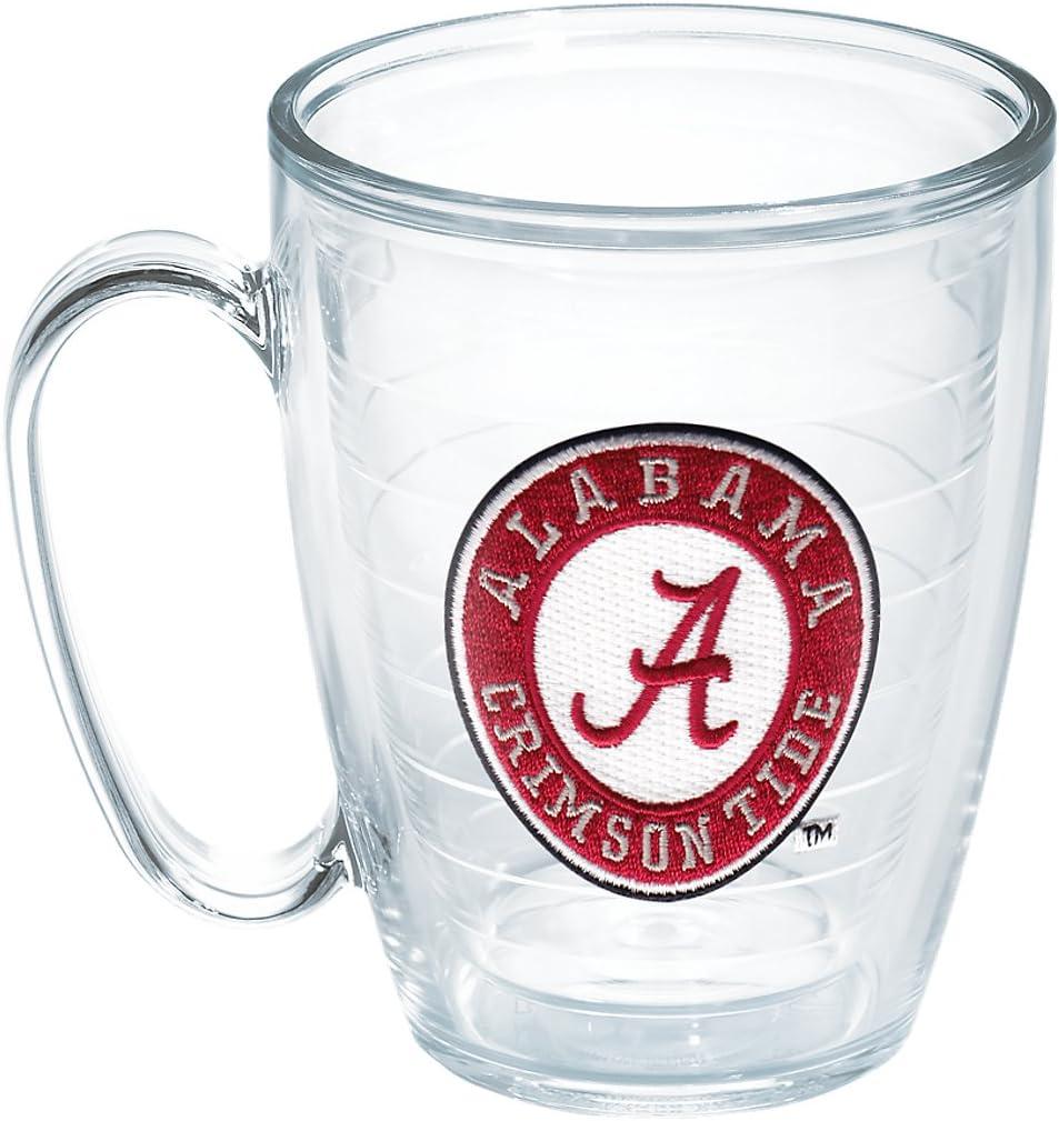 Tervis 1048884 Alabama University Emblem Individual Mug, 16 oz, Clear