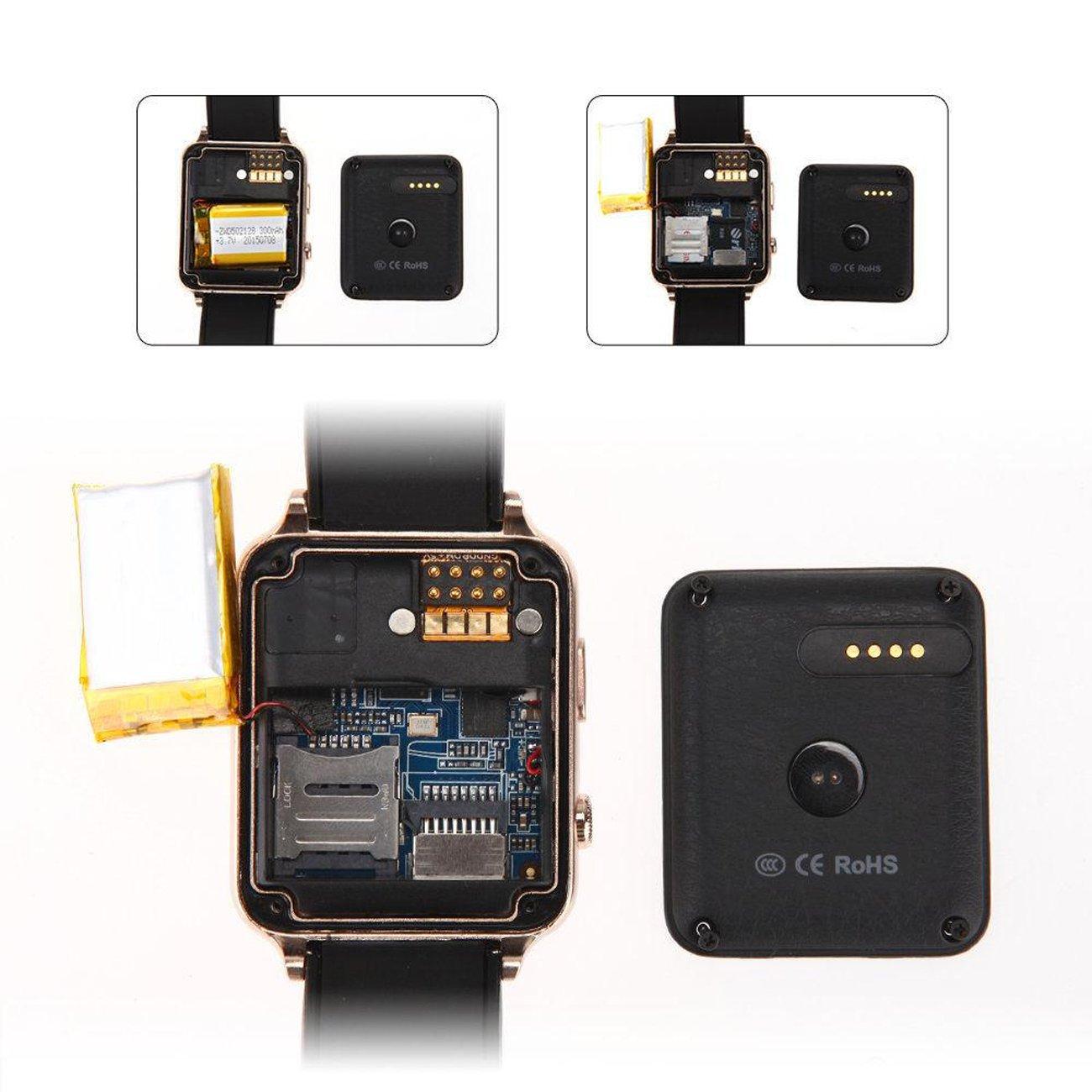 Smart Watch, MindKoo GT88 Reloj Inteligente Bluetooth Impermeable Deportivo de Pulsera Táctil con Monitor de Frecuencia Cardíaca/Sueño Podómero Apoya ...