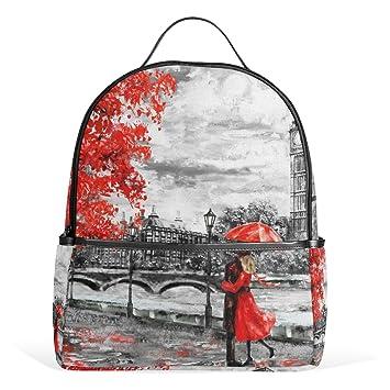 ALAZA Big Ben de Londres amantes de la pintura al óleo Mochila School Bookbag: Amazon.es: Equipaje