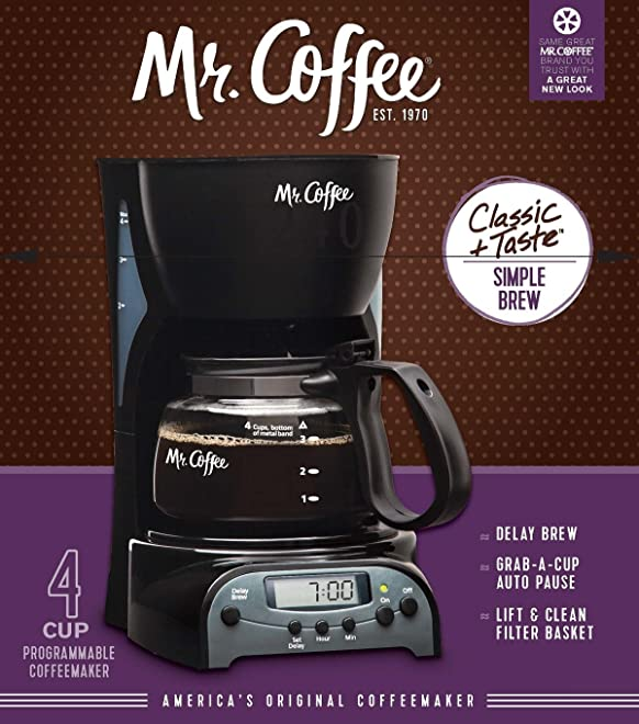 Mr. Coffee 4 Cup Programmable Coffee Maker, DRX5