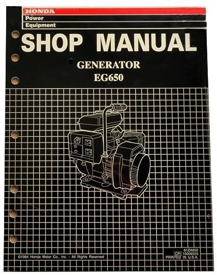 honda eg 550 generator manual