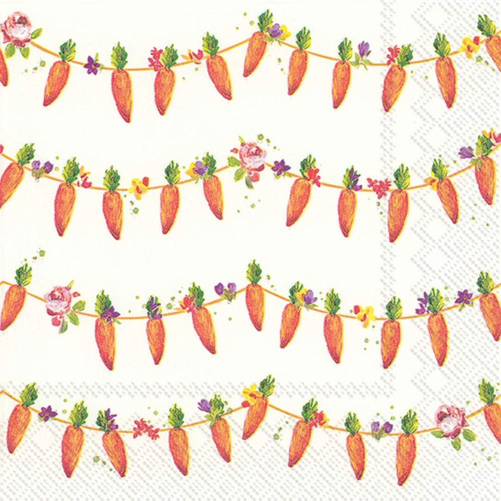 Lavender Wreath Boston International C845200 IHR 20-Count 3-Ply Cocktail Beverage Paper Napkins