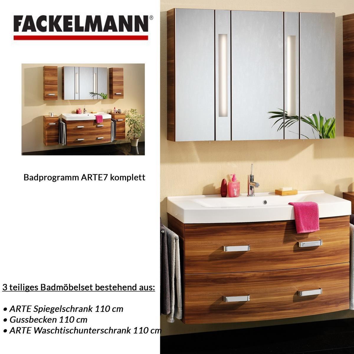 Amazon.de: Fackelmann Badmöbel ARTE 7 Waschbeckenunterschrank ...